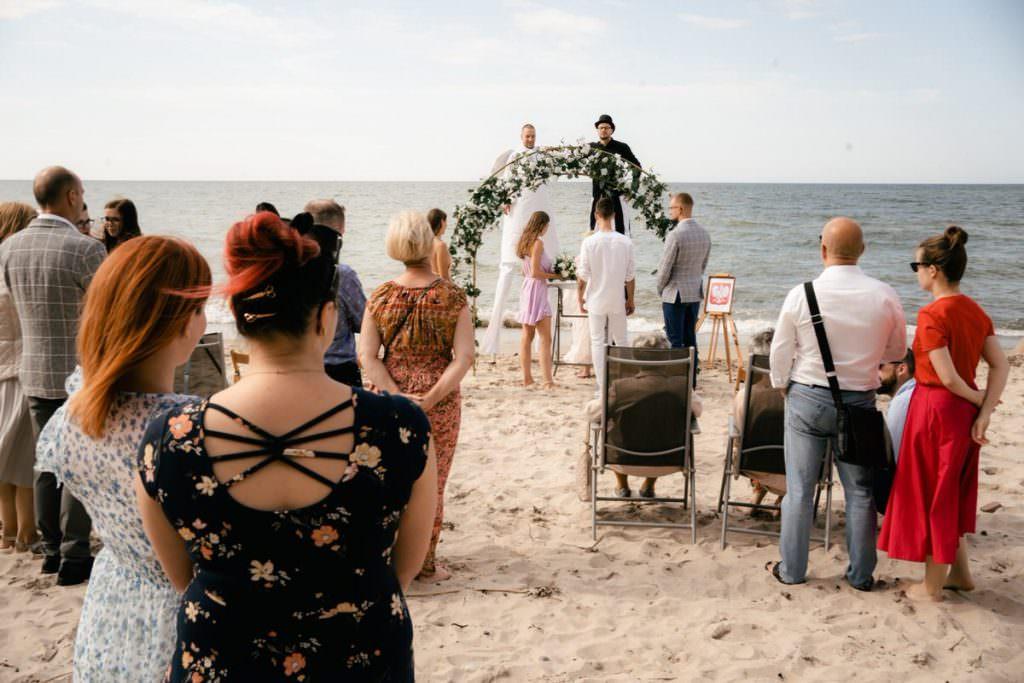 ślub plenerowy na plaży