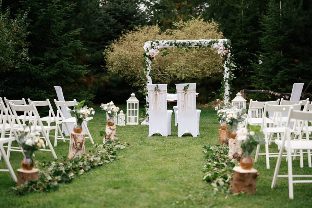 dekoracje na ślub plenerowy